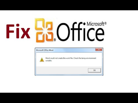 word could not create the work file!! Fix - Howtosolveit