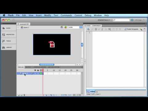 How to embed an FLV (Flash Video) on your website within an SWF