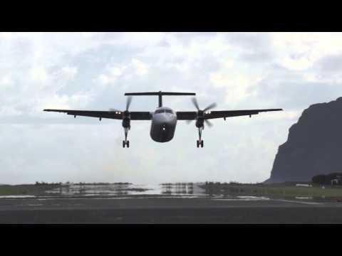 Lord Howe Island Qantas Dash-8 200 Takeoff