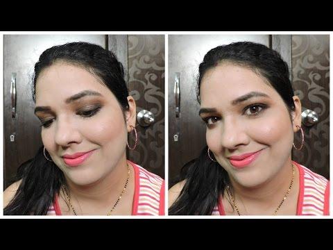 Brown Smokey Eye Makeup Tutorial   beautywithsneha