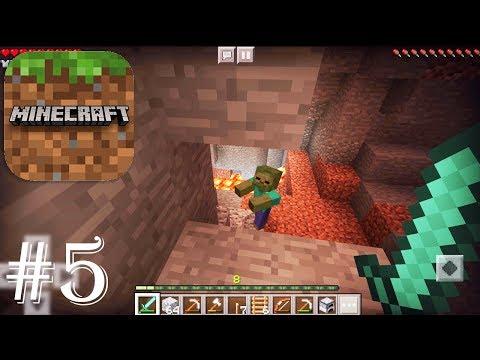 Minecraft: Pocket Edition - Gameplay Walkthrough Part 5 - Survival Diamond Weapon + Mining Adventure