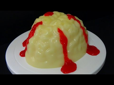 how to make wobble gobble zombie vanilla pudding jelly gummy brain