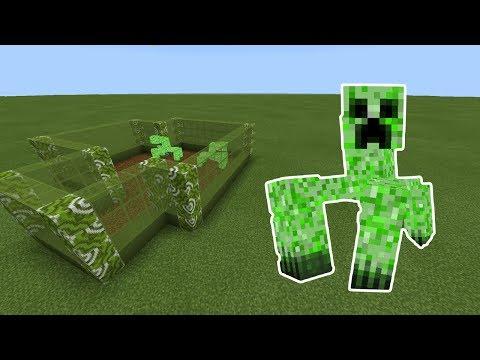How To Make a MUTANT CREEPER Farm in Minecraft PE