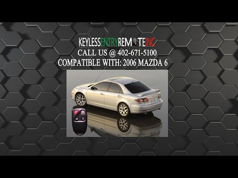 How To Replace Mazda 6 Key Fob Battery 2006