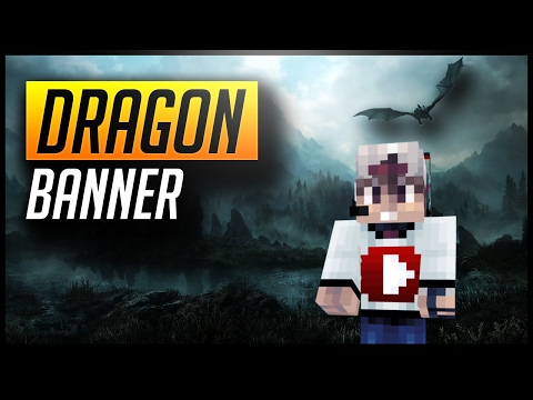 How to make a Dragon Banner in Minecraft!!!
