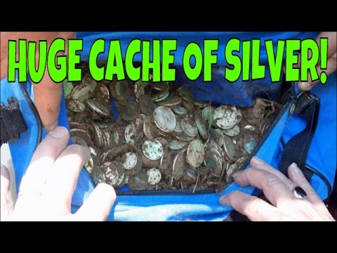 MONSTER CACHE OF 480 SILVER COINS FOUND METAL DETECTING! | AMAZING HOARD BURIED IN 1967!