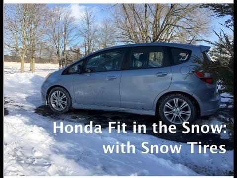 Honda Fit in the Snow: with Snow Tires