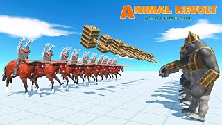 NEW UNIT ! HUSSAR vs Mutant Primates and WILD Animal UNITS | Animal Revolt Battle Simulator