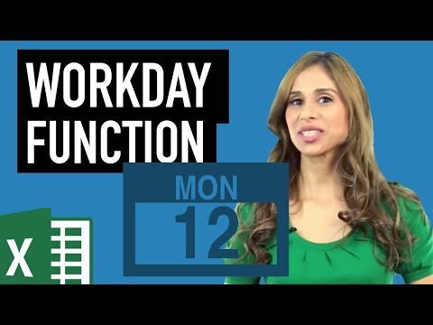 Excel Workday function: Find end date - exclude weekends & holidays