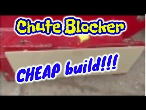 Custom Homemade Chute blocker/Mulch plate for the Exmark Vantage 36 Stander