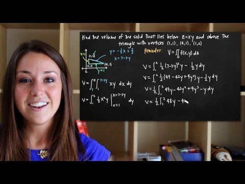 Double integrals to find the volume of the solid (KristaKingMath)