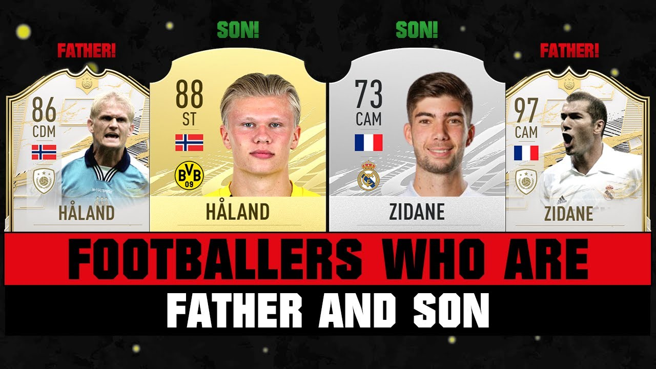 Footballers FATHER and SON! 👨👩👦🔥 ft. Haland, Zidane & Drogba!