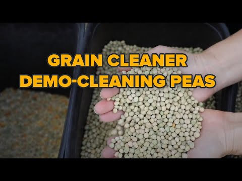 Grain cleaner ''Almaz'', demo-cleaning  peas, Lance Helberg, Tomahawk Farms, Lohn, Texas