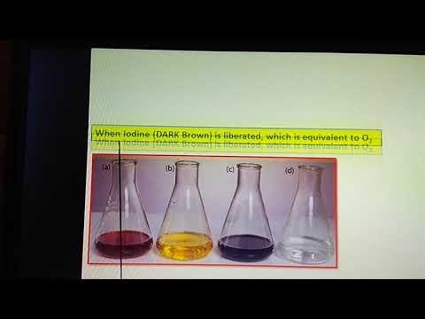 Dissolved oxygen ( DO)  of water sample : Winkler's iodometric Titration method