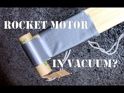 Will a Model Rocket Motor Work In Vacuum?
