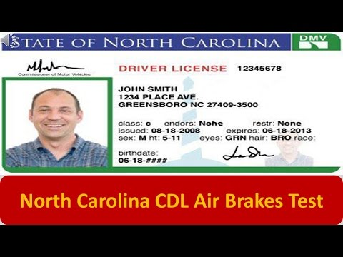 North Carolina CDL Air Brakes Test