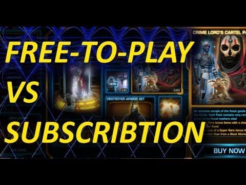 SWTOR Free-To-Play vs. Subscription Summary