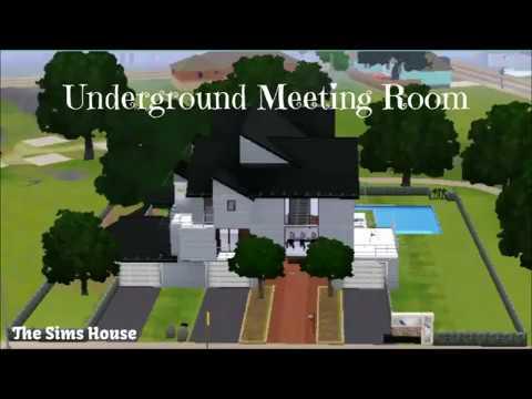 The Sims 3 | Underground Meeting Room | Speed Build