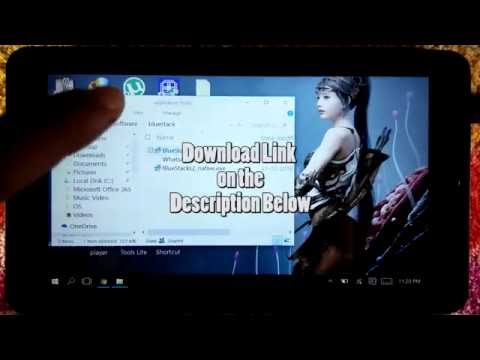 How to install Bluestack in windows 1 GB tablet 100% Working