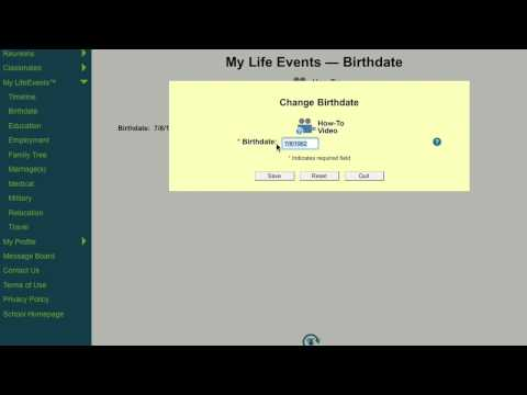 LifeEvents™: How to Change Your Birthdate