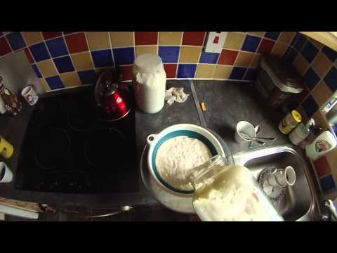 Raw Milk Kefir after 24 hours - Straining