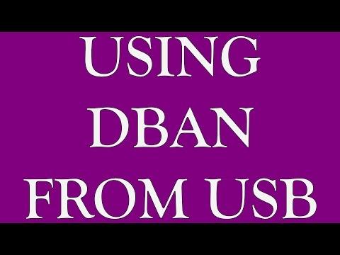 Using DBAN from USB