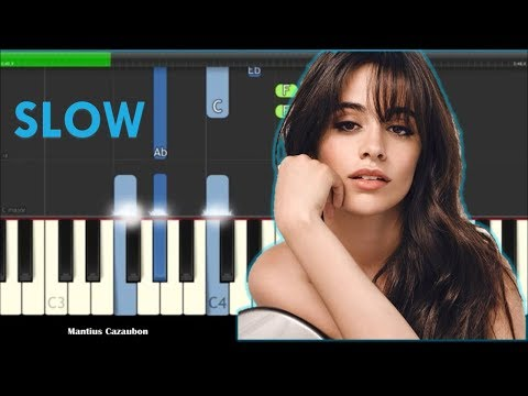 Camila Cabello Something's Gotta Give Slow Piano Tutorial - How To Play
