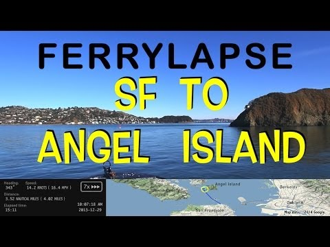 San Francisco to Angel Island narrated ferry ride tour (ferrylapse)