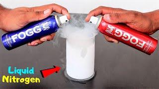 FOGG Perfume in Liquid Nitrogen | क्या परफ्यूम जम जाएगा? Awesome Result