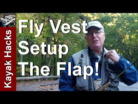 Fly Fishing Tip - How to Use the Fishing Vest Rod Holder