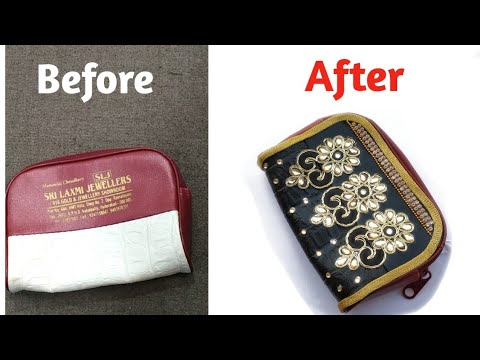 diy clutch/purse makeover no sew/Best out of waste clutch/How to make trendy clutch purse at home