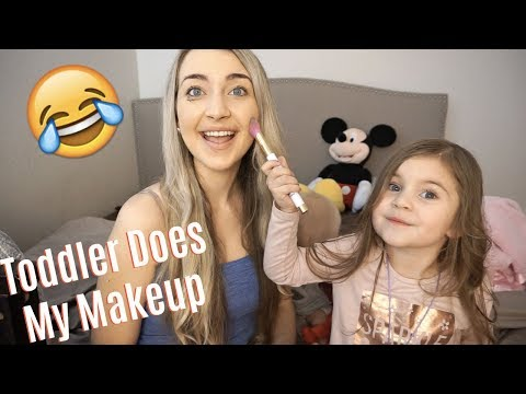 TODDLER DOES MY MAKEUP (Adorable)