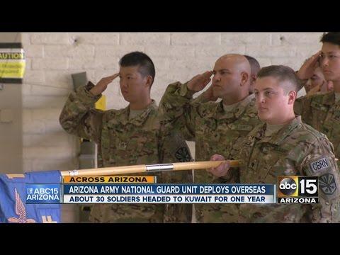 Arizona Army National Guard Unit deploys overseas
