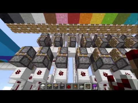 Redstone Tutorial: Minecraft Printer Piston Conveyor Belt