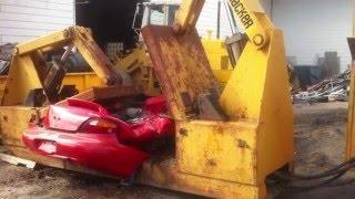 Kemsco NutCracker Car Crusher crushing junk car (SOLD)