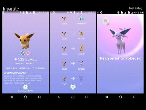 Pokemon GO Espeon Evolution from Eevee renamed as Sakura - How to