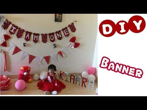 DIY 12 months old Banner | DIY Party Decoration | C.A.N