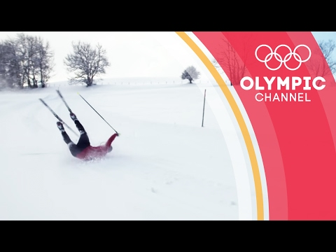 Chasing his dream - Pita Taufatofua learns to cross country ski