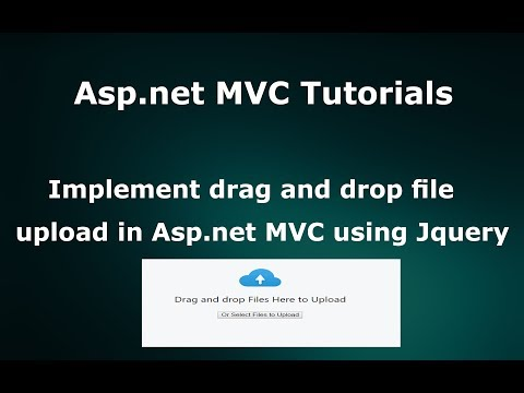 Implement drag and drop multiple files upload in Asp.net MVC using jquery
