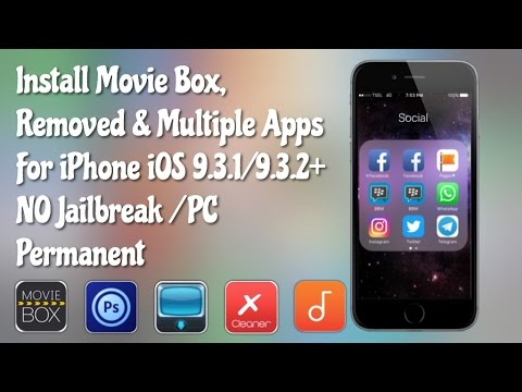 How To Install Movie Box, Removed & Multiple Apps & Date Trick Update For iOS 9.3.3 NO JB/PC