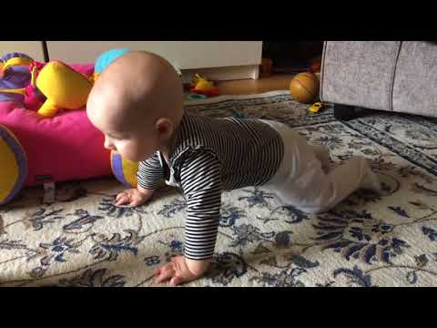 5 Month Old Baby Crawling!