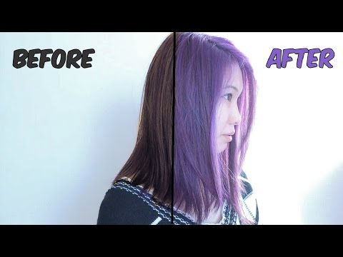 How to dye your hair PURPLE | DIY