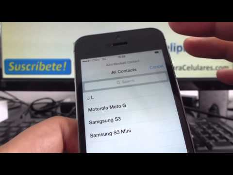 How to block a number on an iPhone 5s 5c 5 4s English Channeliphone