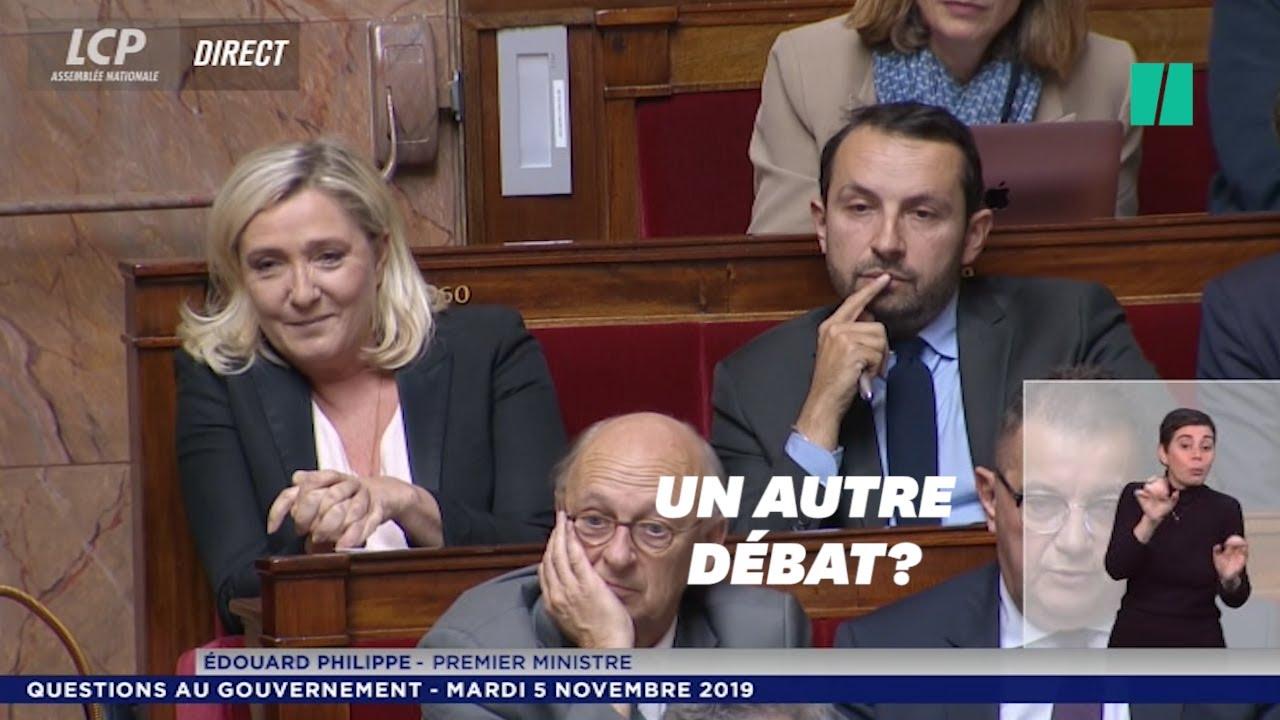 Quand Édouard Philippe évoque la possibilité d'un débat Macron-Le Pen, l'hémicycle s'agite