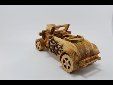 1931 Hot Rot Ford Roaster wood toy car(Hot rot ahşap oyuncak araba)