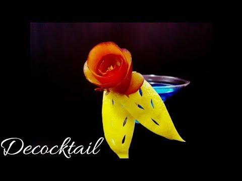 decoracion para coctel en copa martini
