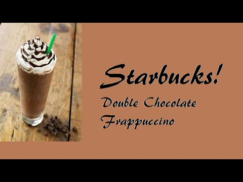Starbucks Double Chocolate Frappuccino DIY