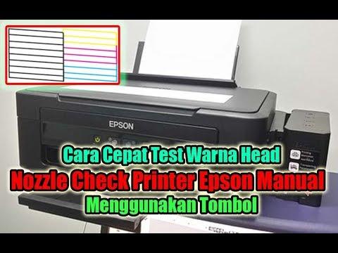 Cara Test Warna Manual Printer Epson    Menggunakan Tombol
