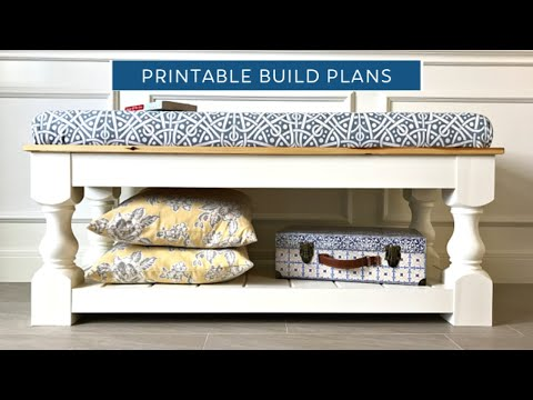Build a Farmhouse Upholstered Bench