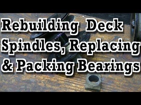 Rebuilding Deck Spindles / Quil Assemblies (Replacing / Packing Bearings)